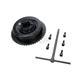 Rear Mechanical Brake Drum w/Sprocket - 23-0051