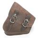 Brown Left-Side Solo Leather Swingarm Saddlebag - SSBBL06