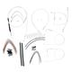 Custom Sterling Chromite II Designer Series Handlebar Installation Kit for Use w/15 in. - 17 in. Ape Hangers (Non-ABS) - 387192