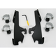 Black Trigger-Lock Mount Kit for Batwing Fairing, Fats/Slims with Shield - MEB8968