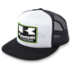 Black/White Kawasaki Racing Snapback Hat - 18-86100