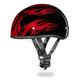 Skull Cap w/Red Flames Half Helmet