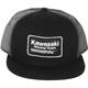 Gray/Black Kawasaki Racing Snapback Hat - 18-86102