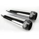 Chrome 3 1/2 in. Tru Power Slip-On Mufflers W/Black Tips - LA-1081-02B