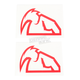 Red Diecut Decals - 4320-1516
