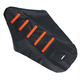 Black/Orange Ribbed Seat Cover - 0821-1793