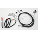 Rear Standard Length Black Vinyl Braided Stainless Steel Brake Line Kit - 1741-2949