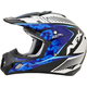 Pearl White/Blue/Light Blue FX-17 Youth Complex Factor Helmet