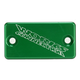 Green Anodized Billet Aluminum Front Brake Reservoir Cover - 21-128