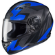 Flat Black/Blue MC-2F CS-R3 Treague Helmet
