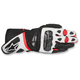 Black/White/Red SP-1 Leather Gloves