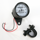 2:1 Ratio White Faced Mini Mechanical Speedometers With Black Housing - 2210-0250