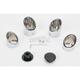 Chrome Twin Slash End Caps for Billet Grips w/ Interchangeable End Caps - 0630-0741