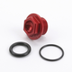 Aluminum Red Anodized Oil Filler Plug - 24-011