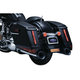 Gloss Black Saddlebag Extensions w/Red LED Run-Turn Signal Lights and Smoke Lenses - 7293