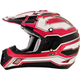 Black/White/Fuchsia FX-17 Works Helmet