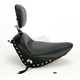 Chrome Studded Standard Solo Seat w/ Driver Backrest - 79710