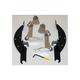 Batwing Black Trigger Lock Hardware - MEM8990