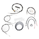 Black Vinyl Handlebar Cable and Brake Line Kit for Use w/12 in. - 14 in. Ape Hangers - LA-8210KT2B-13B
