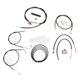Black Vinyl Handlebar Cable and Brake Line Kit for Use w/12 in. - 14 in. Ape Hangers - LA-8210KT2B-13B