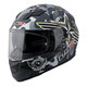 Black/Grey/Green/White Veteran 2 Stream FF328 Full Face Helmet with Sunshield