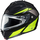 Black/Hi-Viz Neon Green/Silver IS-MAX 2 MC-3H Snowmobile Elemental Helmet w/ Dual Lens Shield