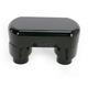Gloss Black 1-1/2 in. Top Clamp Hefty Handlebar Risers - LA-7446-01B