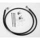 Front Extended Length Black Vinyl Braided Stainless Steel Brake Line Kit +2 in. - 1741-2551