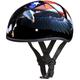 Black Freedom Skull Cap Half Helmet