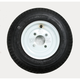 K371 4-Ply 4.80/4.00-8 Tire W/4-Hole Solid Wheel Assembly - 30000