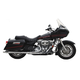 Chrome Long Style High-Performance 2-Into-1 Exhaust System with Heat Shields - 1054S