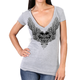 Women's Silver Flight Semi-Sheer V-Neck T-Shirt