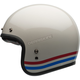 Pearl White With Stripes Custom 500 Helmet
