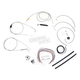 Stainless Braided Handlebar Cable and Brake Line Kit for Use w/18 in. - 20 in. Ape Hangers (w/o ABS) - LA-8005KT2A-19