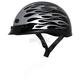 Gloss Black/Silver Nano Custom Half Helmet