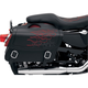 Highwayman Tattoo Saddlebags w/Red Flames - X021-05-0412