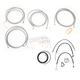 Stainless Braided Handlebar Cable and Brake Line Kit for Use w/12 in. - 14 in. Ape Hangers (W/ABS) - LA-8052KT2-13