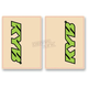 Green/Black KYB Upper Fork Decals - 01017