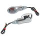 Ultra Small Universal Mini-Stalk Turn Signals - Chrome - 25-8356