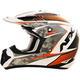 Pearl White/Safety Orange FX-17 Factor Helmet