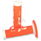 White/Fluorescent Orange 791 Triple Density Grips - 791WHFLOR