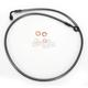 Black Pearl Designer Series 180 Degree Top Angle Custom Single-Disc Front Brake Line - 46443SW