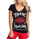 Womens Black Mellow V-Neck T-Shirt