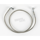 Front Clear-Coated Braided Stainless Steel Brake Line Kits - 1204-2735