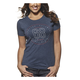 Womens Vintage Navy Button T-Shirt