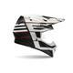 Matte Black/White/Red Blocked Moto-9 Carbon Flex Helmet