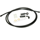 Black Pearl Designer Series BYO Braided Single Disc 7 Ft Brake Line Kit with 7/16 Inch 35 Degree Banjo - 496735A