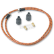 Oak/Red/Black Cloth 7mm Spark Plug Wires - 000344-2