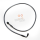 Black Pearl Designer Series 180 Degree Top Angle Custom Single-Disc Front Brake Line - 46438SW