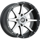 Front/Rear Black Machined Storm 12 x 7 Wheel  - 570-1160